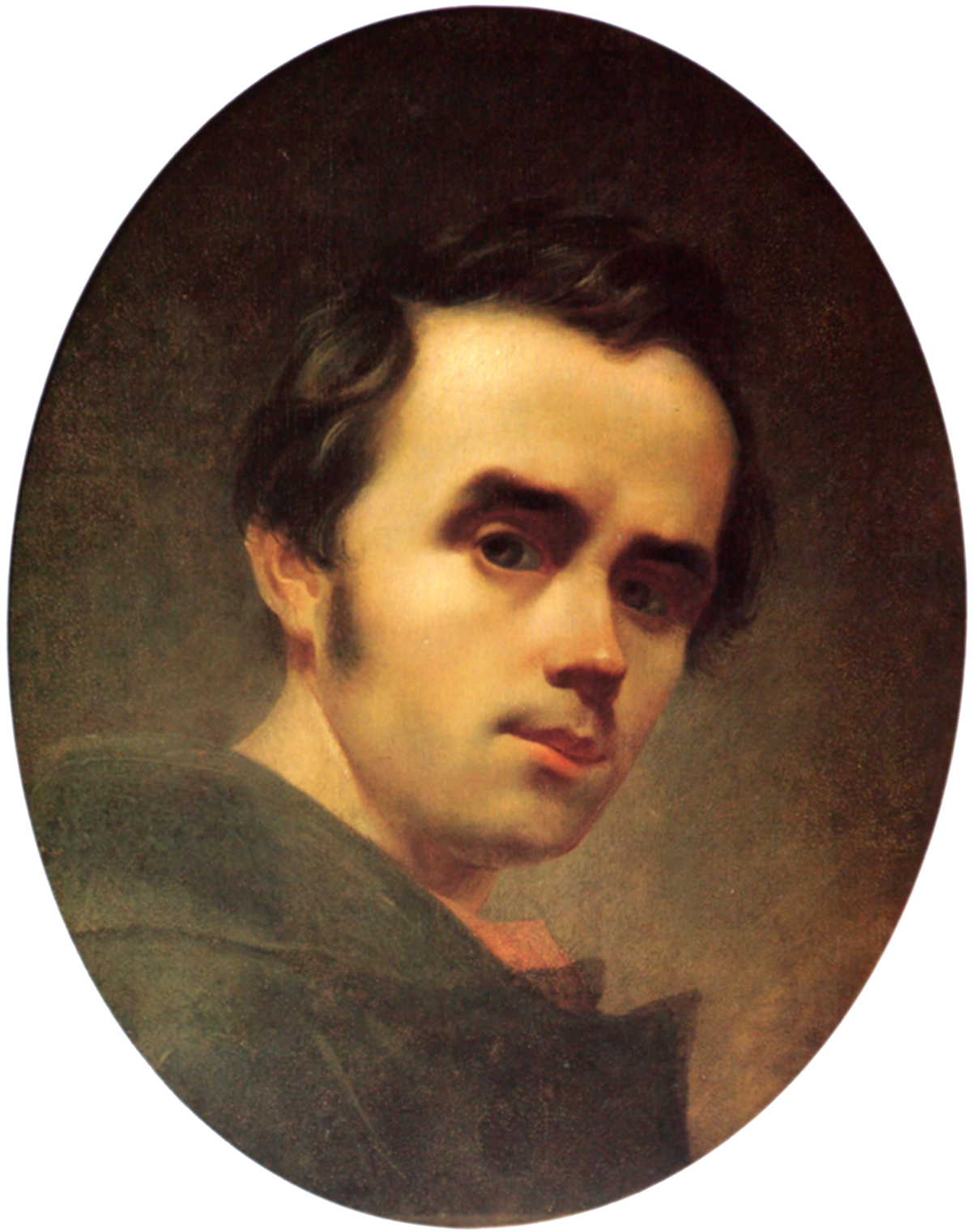 Taras Shevchenko selfportrait oil 1840 (crop).png