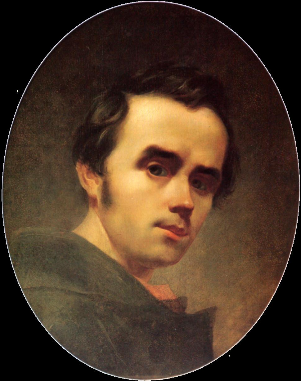 Taras Shevchenko selfportrait oil 1840 (crop)