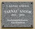 Tarnai Andor plaque (Gyula Bodoky u 17).jpg