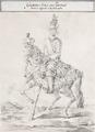 Teckning, Gustav III till häst, 1776 - Livrustkammaren - 89012.tif