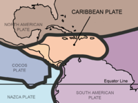 Detail of tectonic plates from: Tectonic plates of the world
