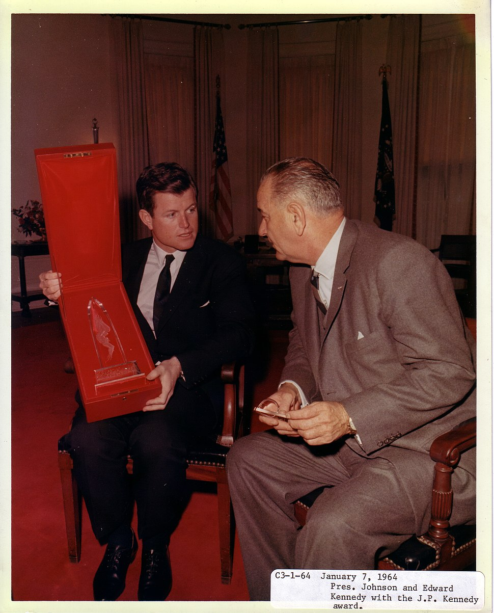Ted Kennedy and LBJ 1964