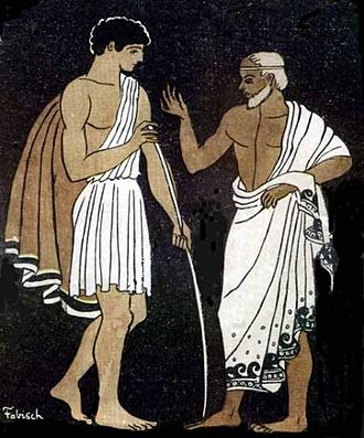 Mentor (Odyssey) - Telemachus and Mentor in the Odyssey