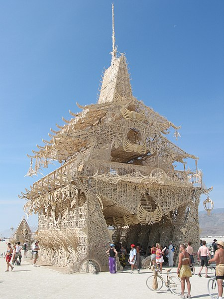 Temple Of Joy in Burning Man 2002