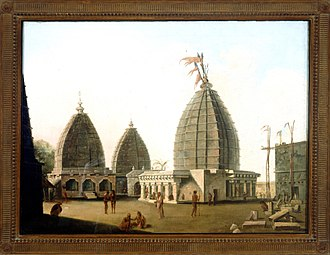 The ancient Vaidyanath Jyotirlinga Temple in Deoghar Temples at Deorgag, Santal Parhanas, Bihar - William Hodges, 1782 - BL Foster 396.jpg