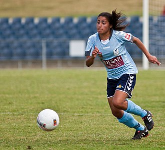 Teresa Polias - Polias playing for Sydney FC in 2010