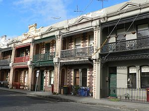 South Melbourne, Victoria - Victorian terrace houses in Finley Street