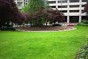 Terry Schrunk Plaza in Downtown Portland, Oregon.