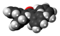 Tetraphenylcyclopentadienone 3D spacefill side.png
