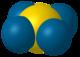 Tetraxenonogold(II)-3D-vdW.png