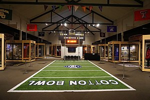 Texas Sports Hall of Fame - Southwest Conference Gallery and Cotton Bowl Exhibit at the Texas Sports Hall of Fame