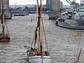 Thames barge parade - in the Pool - Reminder 6728.JPG