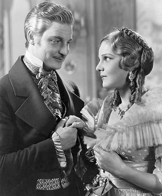 Robert Donat - Robert Donat and Elissa Landi in The Count of Monte Cristo (1934)