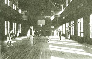 The Ark (Duke University) - Basketball game at The Ark circa 1912