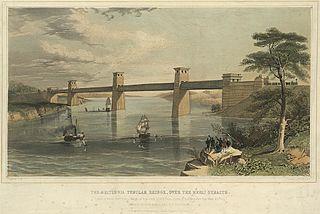The Britannia Tubular Bridge, over the Menai Straits