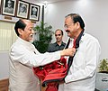 The Chief Minister of Nagaland, Shri Neiphiu Rio calling on the Vice President, Shri M. Venkaiah Naidu, in New Delhi on March 15, 2018.jpg