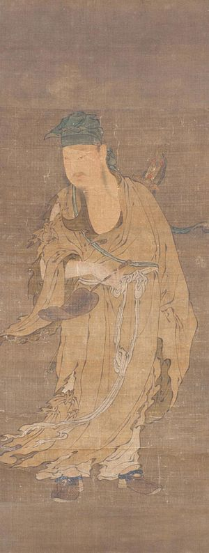 Lü Dongbin - The Daoist Immortal Lü Dongbin, a painting from the Ming dynasty