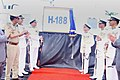 The Deputy Director General Coast Guard, Inspector General Rajendra Singh commissioning the Indian Coast Guard Ship H-188.jpg