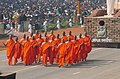The Disciples of Buddha ( the ' Bikhus') walking down the Rajpath as part of tableau of Andhra Pradesh showcasing Buddhist Heritage during the Republic Day Parade - 2006, in New Delhi on January 26, 2006.jpg