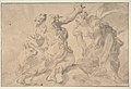 The Discovery of Romulus and Remus (recto); Three Ancient Soldiers (verso) MET DP810938.jpg