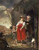 The Dismissal of Hagar c1653-1654 Gabriel Metsu.jpg