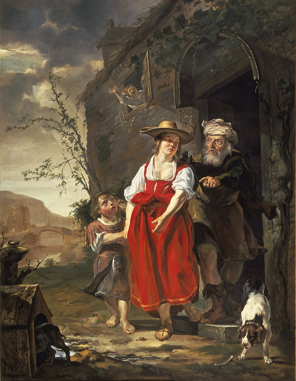 The Dismissal of Hagar c1653-1654 Gabriel Metsu