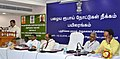 The District Collector, Theni District, Shri N. Venkatachalam addressing the journalists at the media workshop on Post Demonetization - Taking Mobile and Digital Banking to Rural Areas, in Theni, Tamil Nadu.jpg