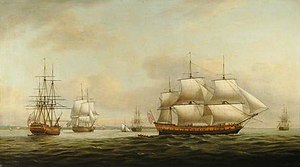 Ceres (1787 EIC ship) - Image: The East Indiaman 'Ceres' off the Spithead Depicted in Four Different Views