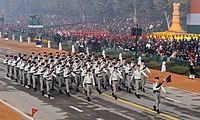 The French Army marching contingents passes through the Rajpath, on the occasion of the 67th Republic Day Parade 2016, in New Delhi on January 26, 2016.jpg