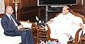 The Governor of Telangana and Andhra Pradesh, Shri E.S.L. Narasimhan calling on the Union Home Minister, Shri Rajnath Singh, in New Delhi on April 19, 2016.jpg