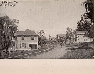 Kingsbridge, Bronx - Nathalie Avenue in the 1890s, now called Kingsbridge Terrace