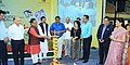 The Minister of State for AYUSH (Independent Charge) and Health & Family Welfare, Shri Shripad Yesso Naik lighting the lamp to inaugurate the National Fair on AYUSH, at Bambolim, in Goa.jpg