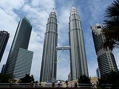 The Petronas Twin Towers in Kuala Lumpur (Malaysia)