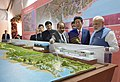The Prime Minister, Shri Narendra Modi and the Prime Minister of Japan, Mr. Shinzo Abe at Ground Breaking ceremony of Mumbai-Ahmedabad High Speed Rail Project, at Ahmedabad, Gujarat.jpg