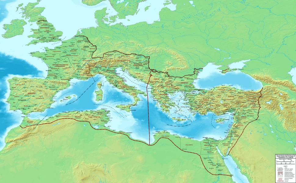 The Roman Empire ca 400 AD