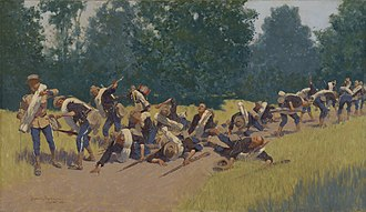 Battle of San Juan Hill - The Scream of Shrapnel at San Juan Hill, by Frederic Remington, 1898