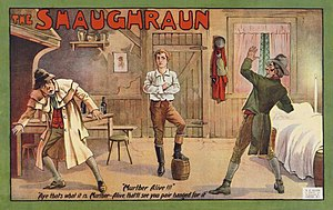 The Shaughraun - Color lithograph poster c. 1875.