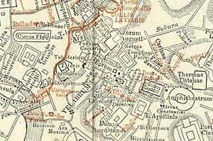 Velabrum - Plan showing the area of the Velabrum
