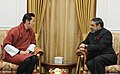 The Union Minister for Commerce & Industry, Shri Anand Sharma meeting the King of Bhutan, His Majesty Jigme Khesar Namgyel Wangchuck, in New Delhi on January 07, 2014.jpg