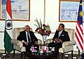The Union Minister for Human Resource Development and Communications and Information Technology, Shri Kapil Sibal meeting the Deputy Prime Minister of Malaysia, H.E. Tan Sri Muhyiddin Hj. Mohd Yassin, in New Delhi.jpg