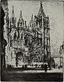 The West Front, Rouen Cathedral, 1907, by Joseph Pennell.jpg