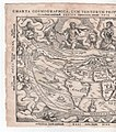 The World From the 'Cosmographicus liber' 1524 (1564 ed.), a woodblock engraving by Petrus Apianus (1495-1552) the western half.jpg