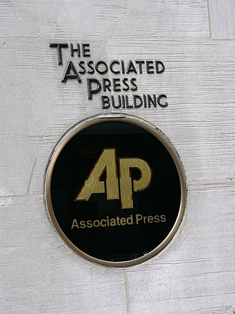 Associated Press - Logo on the former AP Building in New York City