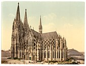 The cathedral, side, Cologne, the Rhine, Germany-LCCN2002714084.jpg