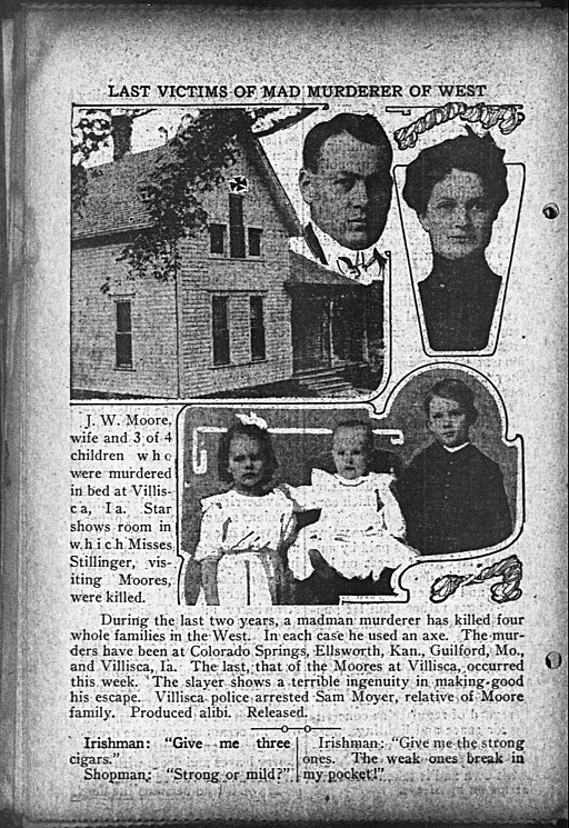 An article on Villisca axe murders in The Day Book, 14 June 1912.