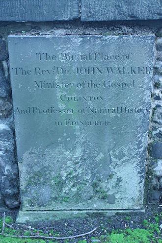 John Walker (natural historian) - The grave of Prof John Walker, Canongate Kirkyard, Edinburgh