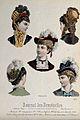 The heads and shoulders of five women wearing hats elaborate Wellcome V0019897EL.jpg