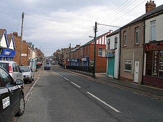 Blackhall Colliery - Image: The main street at Blackhall Colliery