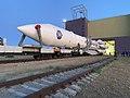 The rollout of Proton-M rocket with MLM-U Nauka.jpg