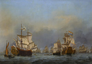 The surrender of the Royal Prince during the Four Days' Battle, by Willem van de Velde the Younger.jpg